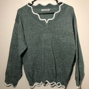 Misslook knitted wool sweater women's small